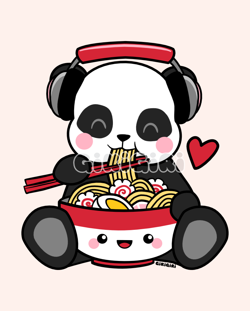 Love Music Love Noods Panda