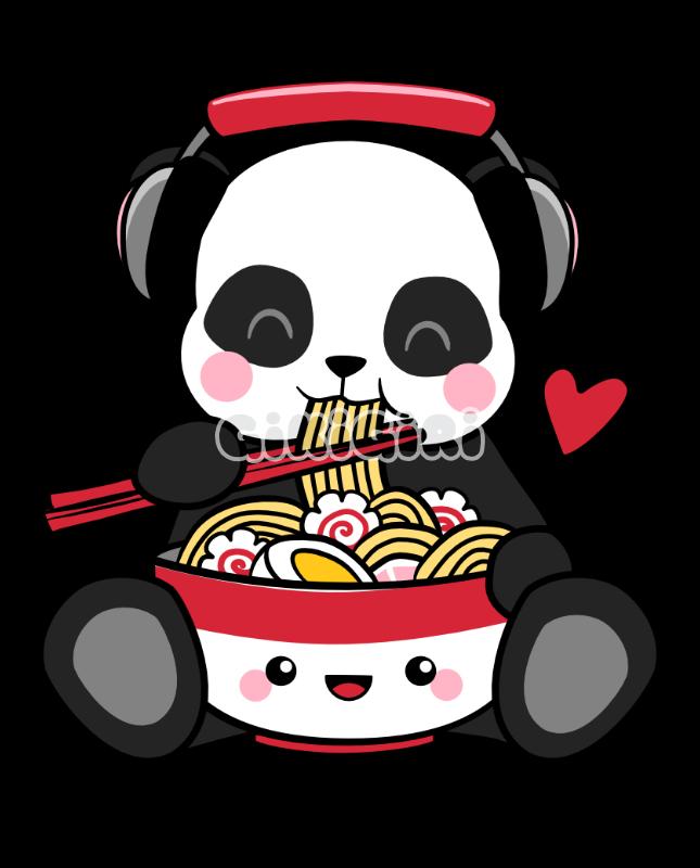 Love Music Love Noods Panda