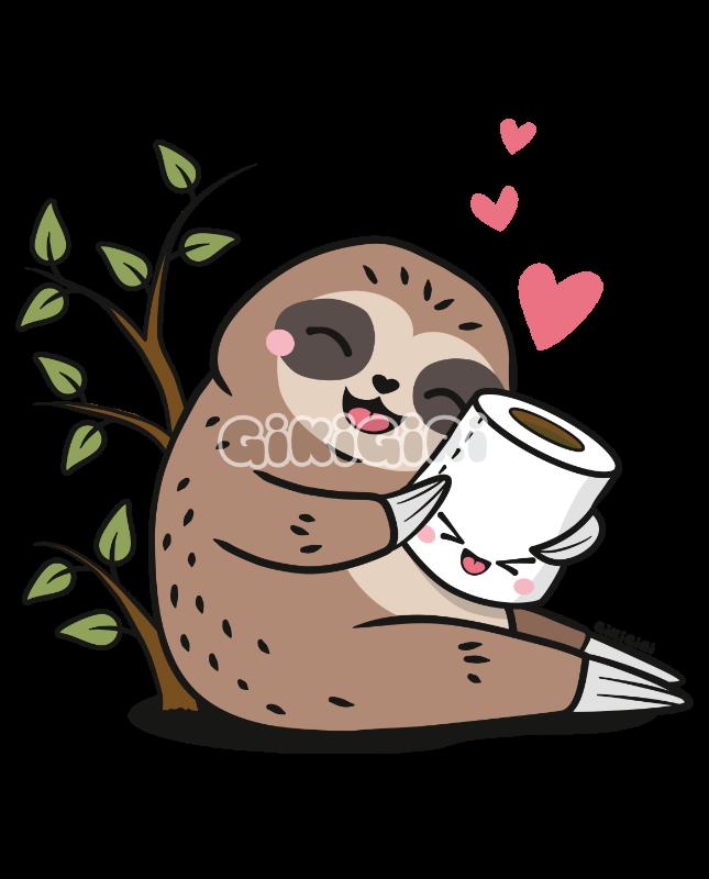 Sloth Loves Toilet Paper