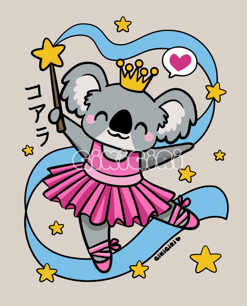 Kawaii Koala Ballerina